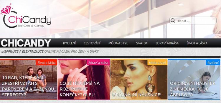 Online magazín pro ženy Chicandy