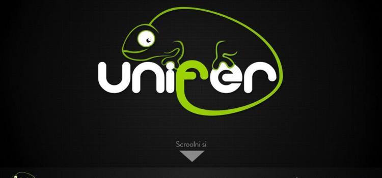 Kreativní webové stránky Unifer